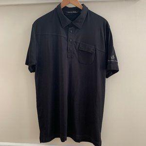 Travis Mathew Black Short Sleeve Golf Shirt Sz XL